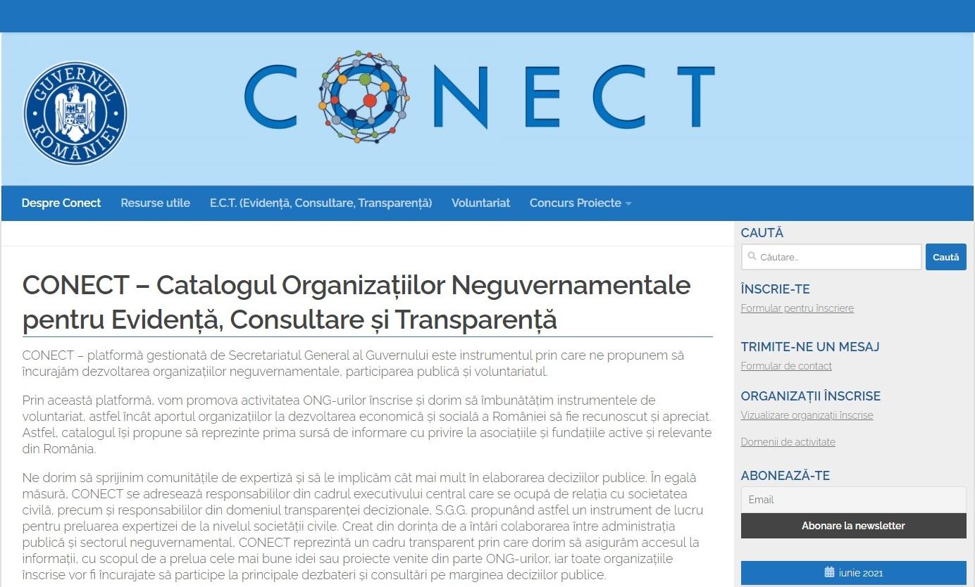 Platformă dedicată ONG-urilor