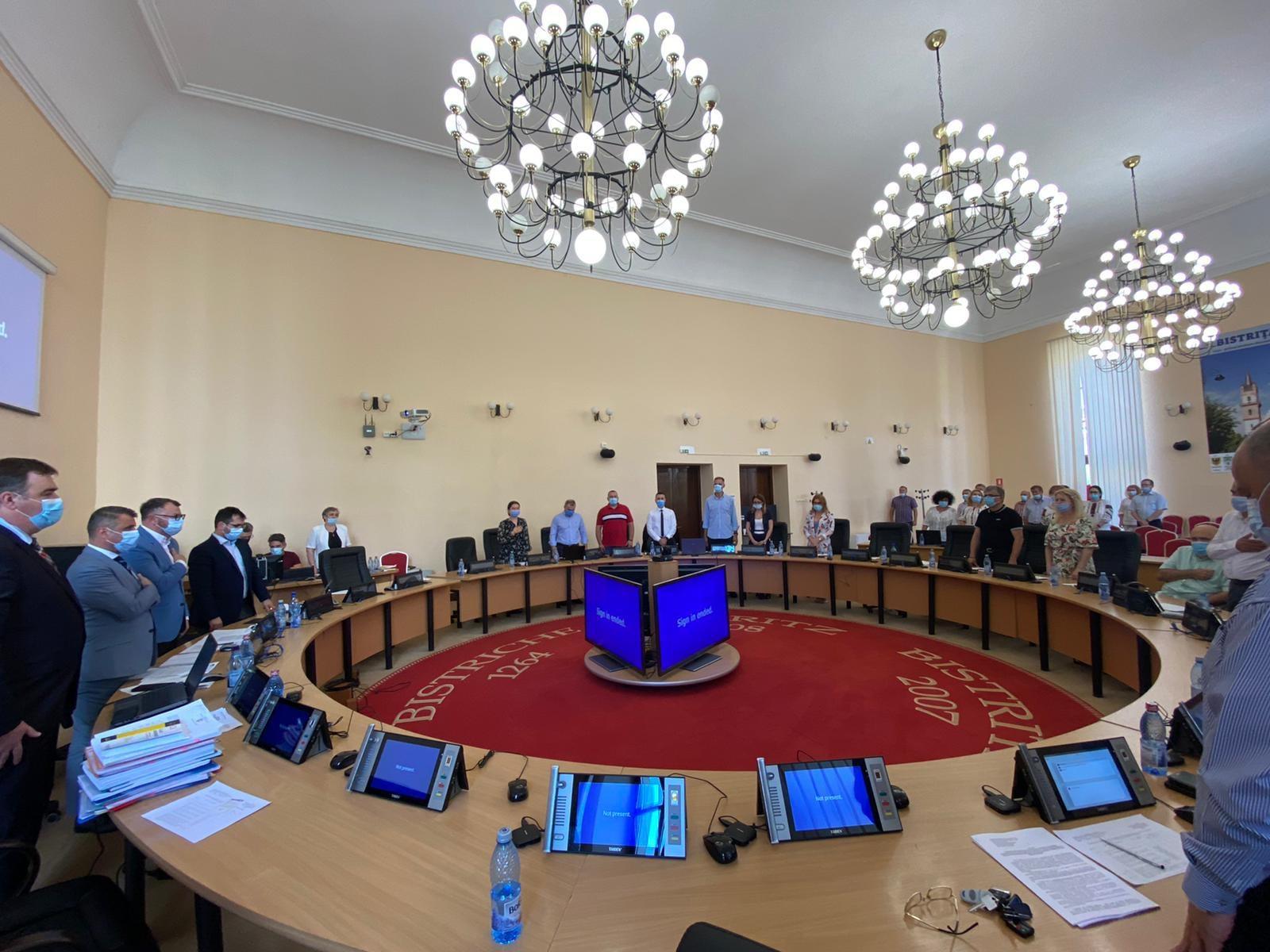 Ședință ordinară a Consiliului Local Bistrița în 29.07.2021