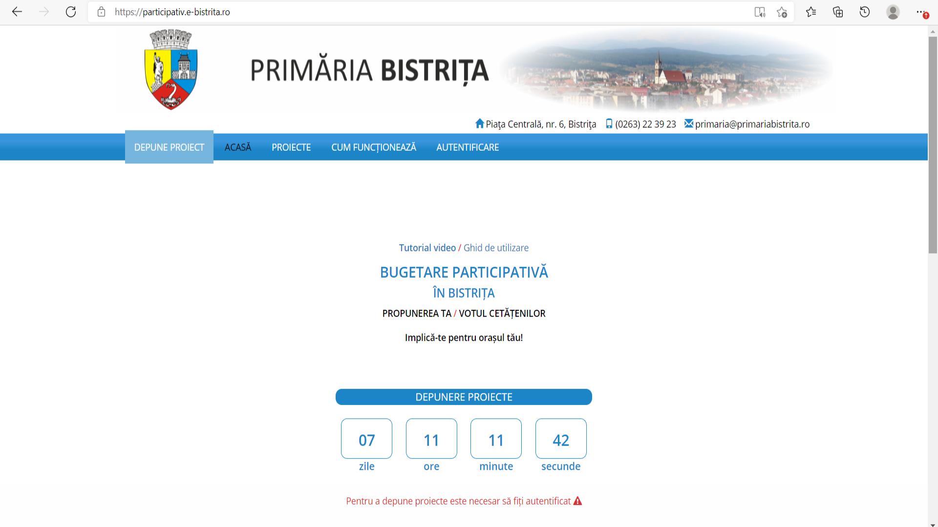 20 septembrie 2021 – termenul limită de depunere a proiectelor în cadrul procesului de bugetare participativă