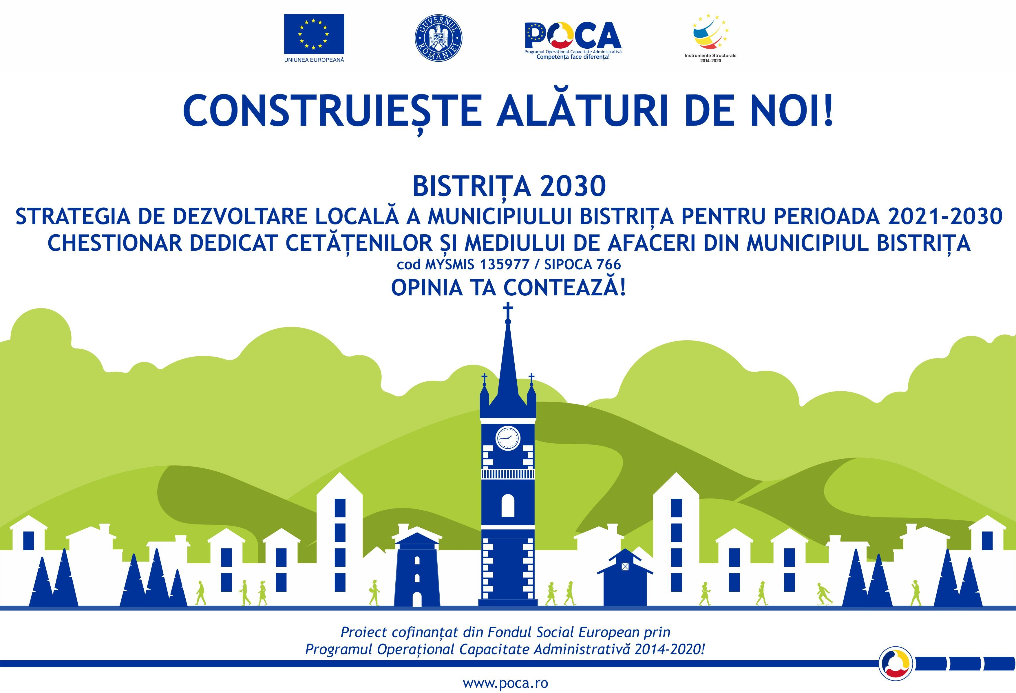 """Strategia de Dezvoltare Locală a municipiului Bistrița pentru perioada 2010-2030"""""""