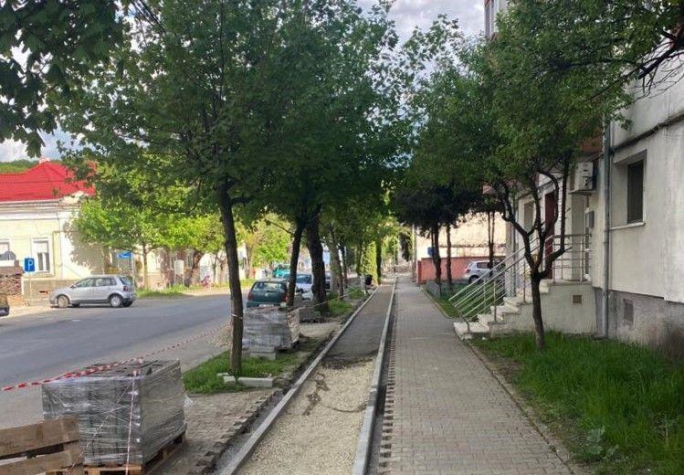 Încep lucrările la pistele de cicliști pe strada Alba Iulia